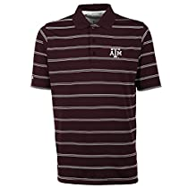 Antigua Men's Texas A&M Aggies Deluxe Short Sleeve Polo Small