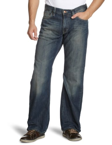 Mustang Bootcut Jeans Red Cast Denim Dirty Washed,