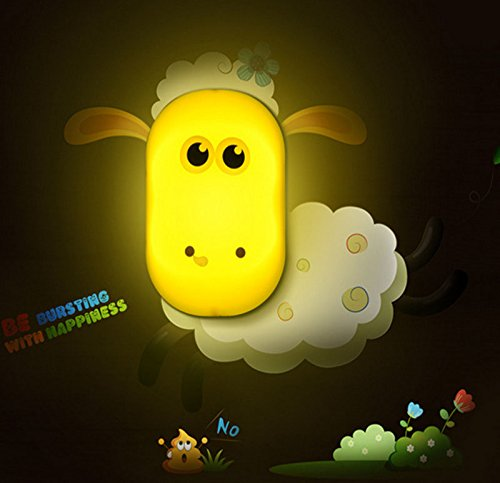 Amazon.com: Sheep Design Night Light Lamp by Little Lamby,with 2 Electrical Plug Covers - LED powered for Baby and Toddlers, Perfect for Bedside Table or Bathrooms, Electrically Powered.: Baby