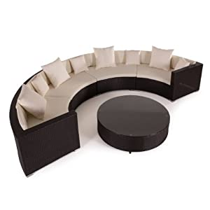 Poly Rattan Lounge Set Gartenmöbel Rundecke 4m Top Angebote ...