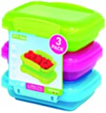 Sistema Klip It 3 by 6.7-Ounce Containers, 3-Pack, Blue/Pink/Green
