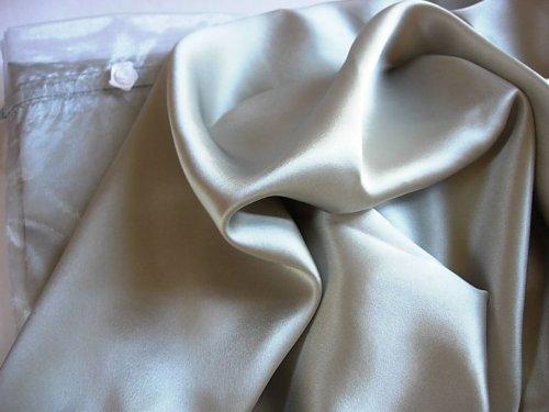 Silver 100% Mulberry Silk Pillowcase King Pillow Case
