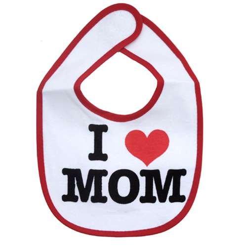 I LOVE MOM ベビービブかわいいグッズ(よだれかけ/スタイ)通販