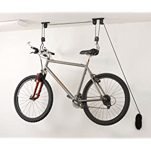 Click to buy Garage Bicycle Storage: Racor PBH-1R Ceiling-Mounted Bike Lift from Amazon!