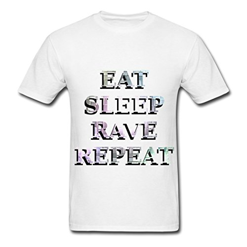 Eat Sleep Rave Repeat Good Taste White 2UFROME Men's T-shirt M