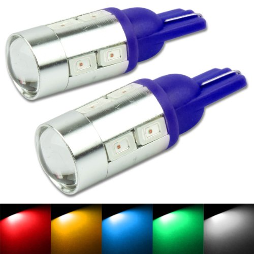 T10 194/168 10-Smd Cree Blue Led Light Bulbs (Pack Of 2)