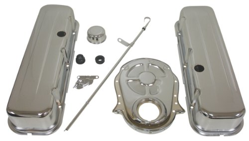 1965-95 Chevy Big Block 396-427-454-502 Chrome Steel (Tall) Engine Dress Up Kit - Smooth