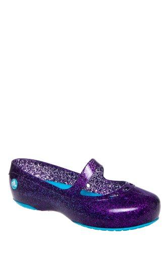 Crocs Kid's Carlisa Glitter Flat Shoes