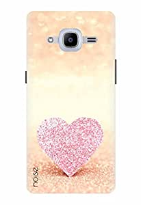 Noise Designer Printed Case / Cover for Samsung Galaxy J2 Pro - 6 (New 2016 Edition) / Patterns & Ethnic / Blingy Pink Heart Design