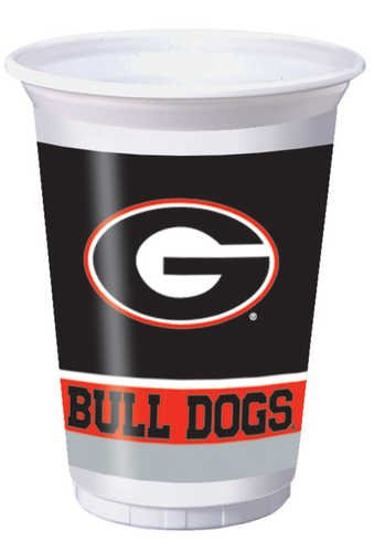 Creative Converting Georgia Bulldogs Printed 20 Oz Plastic Cups 8 Count