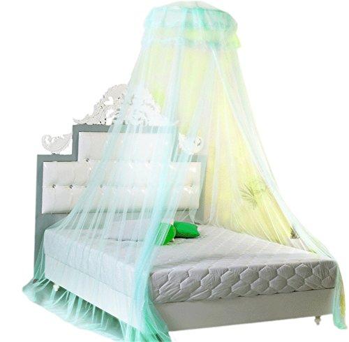 YARBAR-Runde-Spitze-Vorhang-Dome-Bett-berdachung-Netting-Princess-Trkis
