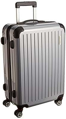 [ワールド ホッパー] WORLD HOPPER 【Amazon.co.jp限定】 スーツケース 61cm 62L 4.4kg 双輪キャスター TSAロック搭載(シルバー)