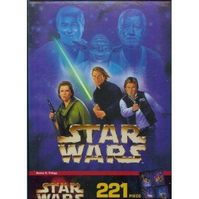 Cheap Milton Bradley Star Wars 221 Piece Mural Puzzle Scene 4: Trilogy (B001HL9QT2)