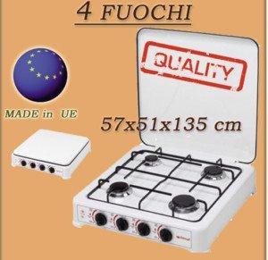 Cucina a Gas Prezzo: ITIMAT GAS 4 FUOCHI FORNELLO CAMPEGGIO GPL ...