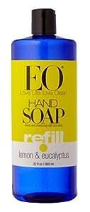 EO Hand Soap, Refill Size, Lemon & Eucalyptus, 32-Ounce Bottles (Pack of 2) Body Care / Beauty Care / Bodycare / BeautyCare