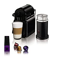 Magimix Nespresso 11360 Inissia Coffee Machine with Aeroccino3, Black