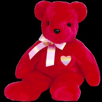 TY Beanie Buddy - KISS-e the Bear - 1