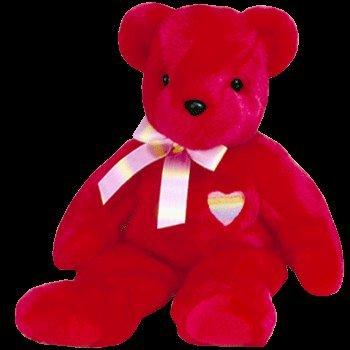 TY Beanie Buddy - KISS-e the Bear - 1