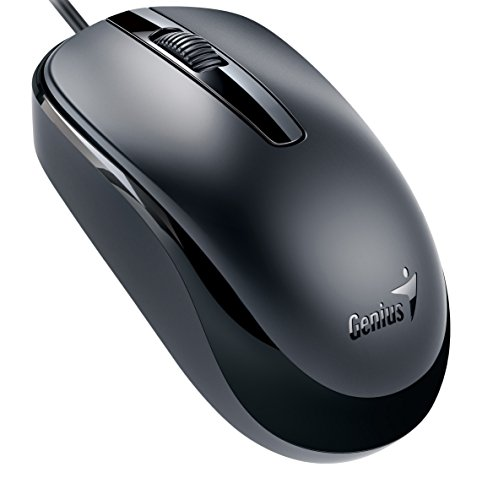Genius Classic Wired Optical Mouse, Black (DX-120black)
