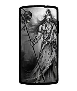 Chnno 2d SHIVA Printed Back Cover For LG Nexus 5