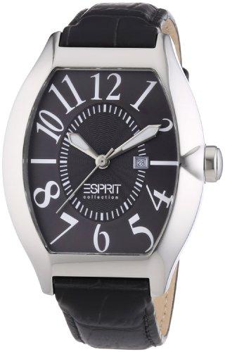 Esprit Collection hector grey EL101081F04 - Reloj analógico de cuarzo para hombre, correa de cuero color gris (agujas luminiscentes)