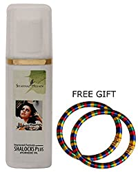 Shahnaz Husain Shahnaz Husain Shalocks Plus Ayurvedic Hair Oil - 200Ml - With Free Gift (Pair Of Multicolor Bangles)