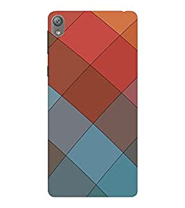 EPICCASE squares Mobile Back Case Cover For Sony E5 (Designer Case)