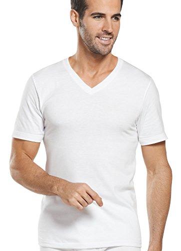 Jockey Men's T-Shirts Classic V-Neck - 5 Pack, white, M