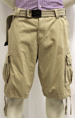 Gant Mens Desert Green Belted Cargo Shorts (38)