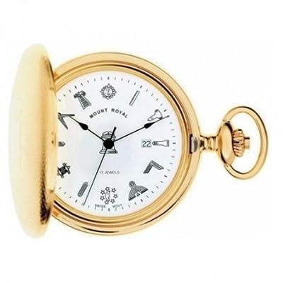 Mount Royal Pocket Watch G410PM Gold Plated Masonic Full Hunter