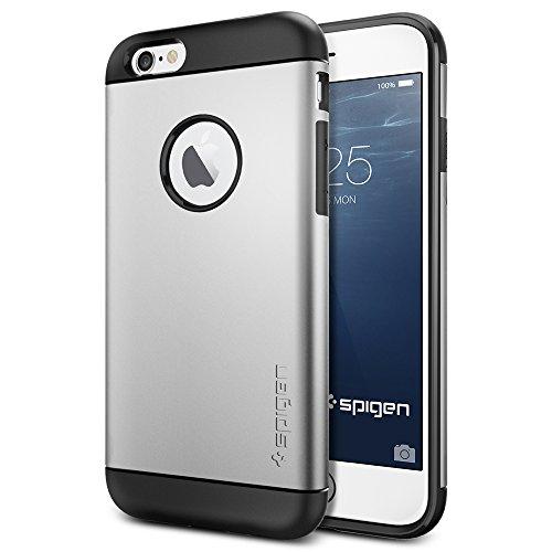 iPhone 6 ケース, Spigen® [ スリム+保護力+個性 ] Apple iPhone 4.7 (2014) スリム アーマー The New iPhone アイフォン6  (国内正規品) (サテン・シルバー  SGP10958)