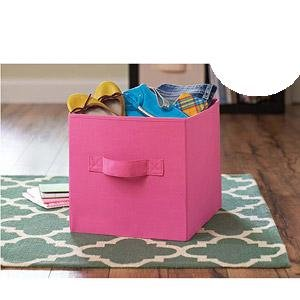 Better Homes And Gardens Collapsible Fabric Storage Cube Pink