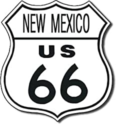 US 66 New Mexico Tin Sign 11&quot;W x 11&quot;H