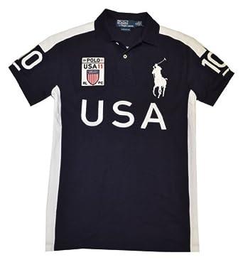 Polo Ralph Lauren Men Custom Fit Big Pony T-Shirt - USA (X-Large)