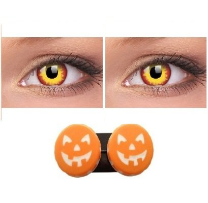 Fancy Dress Accessories - 1 Day Use Wildfire Contact Lenses - Be Wild For The Night!