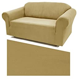 Stretch Suede Sand Furniture Slipcover Chair 735