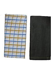 Bdow Men's Poly viscous trouser and shirt unstitched fabric set