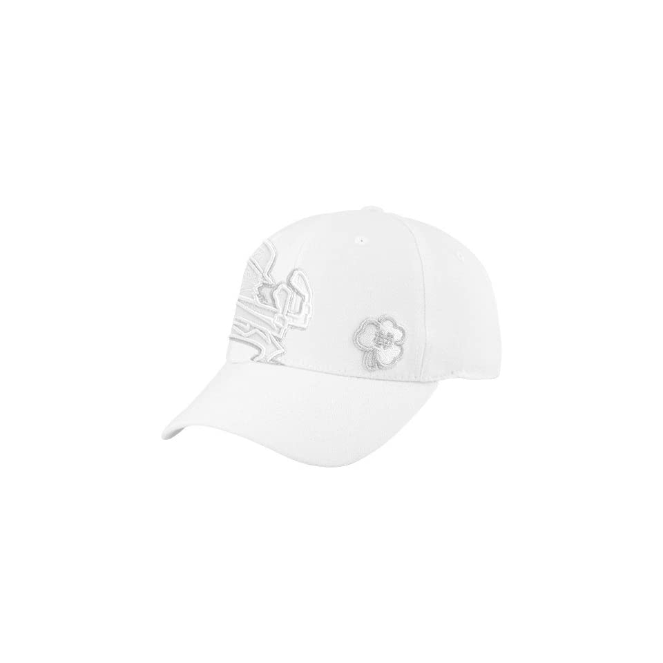 Top of the World Notre Dame Fighting Irish White Refraction 1Fit Hat