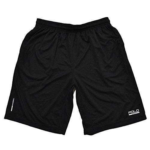Polo Sport Ralph Lauren Men's Jersey Athletic Shorts (L, Black/Silver)