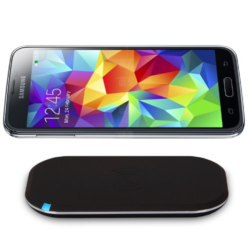 CHOETECH Qi Wireless Charger Kit for Galaxy S5 Including Wireless Charging Pad and Wireless Charging Receiver (May not Compatible with OEM S-view Fl