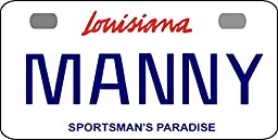 Personalized Louisiana Sportsman Bicycle Replica License Plate any name