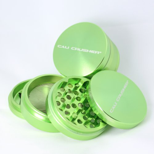 Cali Crusher Herb Grinder Large 4 Piece Green