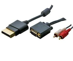 Générique - Xbox 360 - Câble 5.1 VGA HD pour XBOX360 1,80m