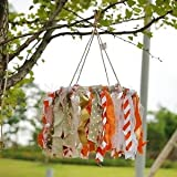Alcoa Prime Nursery Crib Colorful Mobile Cotton Tassels With Jute Twine Baby Rome Decor