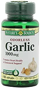Nature's Bounty Odorless Garlic 1000mg, (pack of 6) from Nature's Bounty
