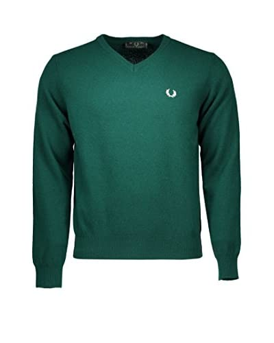 Fred Perry Wollpullover grün