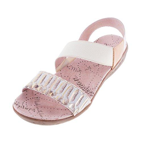Meraviglie sandali da donna in pelle, con (c-1151), (TOFFE), 41 EU