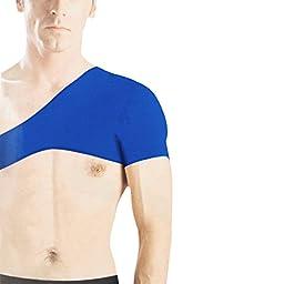 uxcell Men Sports Protect Blue Elastic Neoprene Single Shoulder Brace Support
