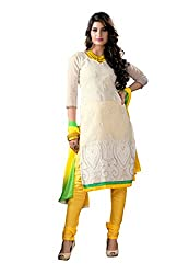 Fabdeal Women Chanderi Cotton Embroidered Salwar Kameez
