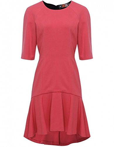 MSGM Punto Milano Dress Coral UK14
